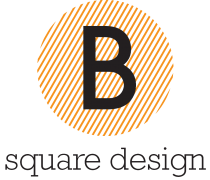 Logo B square design